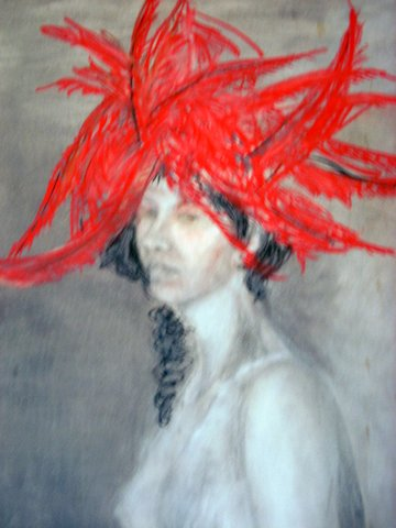 <b>Nude with red headdress</b>